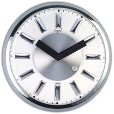 "13"" Stainless Steel Round Case Wall Clock"
