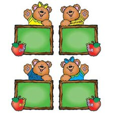 Chalkboard Bears Assorted Bulletin Board Cut Out