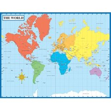 Map Of The World Laminated Chartlet (Set of 2)