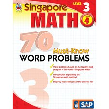 70 Must Know Word Problems Level 3 Book