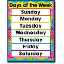 Days in The Week Chart (Set of 3)