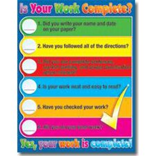 Is Your Work Complete Chart (Set of 3)