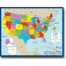Chartlet Map Of The Us 17 X 22 (Set of 3)