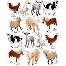 Farm Animals Photographic Window Cling