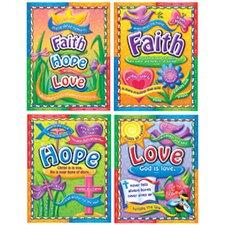 Faith Hope and Love Bulletin Board Cut Out