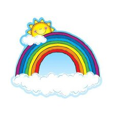 Rainbow 2 Sided Decorations Bulletin Board Cut Out (Set of 3)