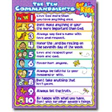 The 10 Commandments for Kids Chart (Set of 3)