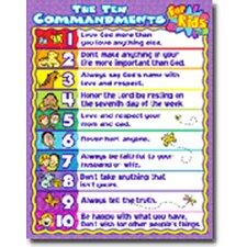 The 10 Commandments for Kids Chart (Set of 3)