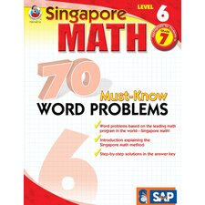 70 Must Know Word Problems Level 6 Book