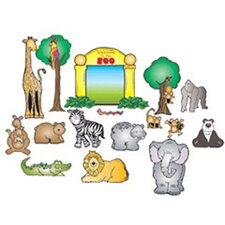 Zoo Friends Bulletin Board Cut Out Set