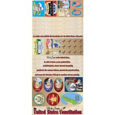 Us Constitution All-in-one Bulletin Board Cut Out Set