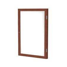 1 Door Enclosed Magnetic Whiteboard