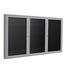3-Door Aluminum Frame Enclosed Letter Board