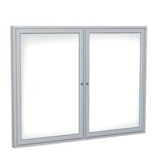 2 Door Enclosed Magnetic Whiteboard