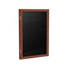 1-Door Wood Frame Enclosed Flannel Letter Board