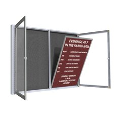 Satin Aluminum Frame Enclosed Letter Board