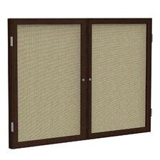 2 Door Enclosed Bulletin Board