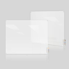 Harmony Frosted Square Corners Glass Wall Mounted Whiteboard