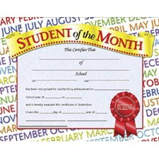 Student of The Month Certificate (Set of 30)
