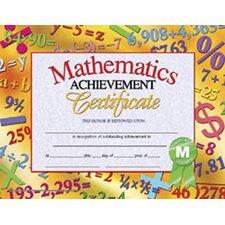 Mathematics Achievement Certificate (Set of 30)
