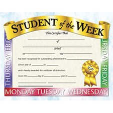 Student of The Week Certificate (Set of 30)