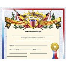 Social Studies Achievement Certificate (Set of 30)