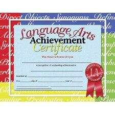 Language Arts Certificate (Set of 30)