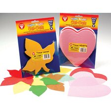 Tissue Shapes 180 6 Hearts In Red (Set of 2)