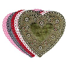 Doilies 4 White Hearts 100/pk (Set of 2)