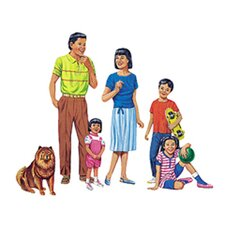 Multicultural Families Bulletin Board Cut Out (Set of 4)