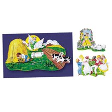 3 Nursery Rhymes Bulletin Board Cut Out Set (Set of 3)