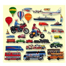 Trains Trucks and Planes Bulletin Board Cut Out