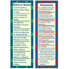Parts of Speech and Punctuation Smart Bookmark