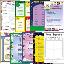 4 Square Writing Method Chart (Set of 8)