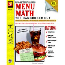 Menu Math Hamburger Hut Book