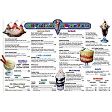 Menu Math Ice Cream Parlor Extra Chart