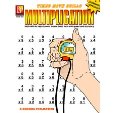 Timed Math Facts Multiplication Book