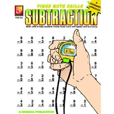 Timed Math Facts Subtraction Book