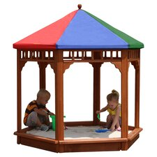 Play-Zee-Bo 5' Hexagon Sandbox with Cover