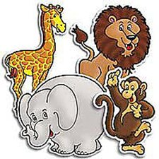 36 Piece Punch-outs Zoo Animals Bulletin Board Cut Out Set (Set of 2)