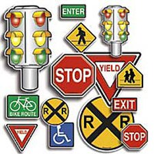 36 Piece Punch-outs Safety Signs Bulletin Board Cut Out Set (Set of 2)