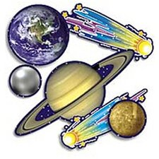 36 Piece Punch-outs Solar System Bulletin Board Cut Out