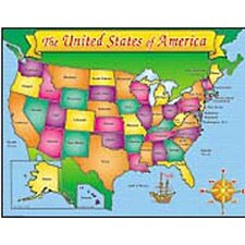 Usa Map Friendly Chart 17x22 (Set of 3)