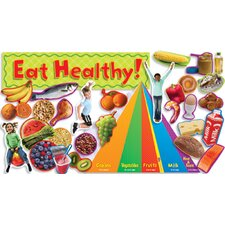 Nutrition with Food Pyramid Mini Bulletin Board Cut Out