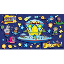 Space School Welcome Bulletin Board Cut Out