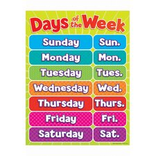Days of The Week Chart (Set of 3)