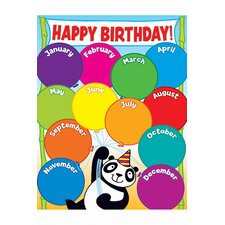 Panda Birthday Grade Pk-5 Chart (Set of 3)