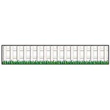White Picket Fence Accent Punch-out Classroom Border (Set of 2)