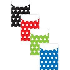 Brite Pockets Asst Polka Dots 35bag File Folder (Set of 2)