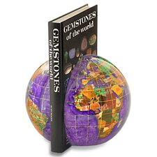 Gemstone Globe Book Ends (Set of 2)